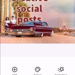 Creating a social post on your phone